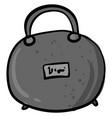 gray handbag drawing on white background vector image