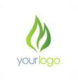 green bio organic logo vector image vector image