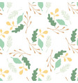 green leaves and branches seamless pattern on vector image vector image