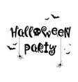 happy halloween text banner collection vector image