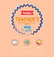 happy teachers day banner vector image