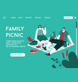 landing page family picnic concept vector image