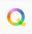 letter q gradient mosaic icon vector image vector image