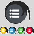 List menu Content view options icon sign Symbol on vector image vector image