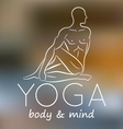 Logo for yoga studio vector image