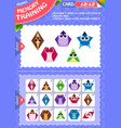 memory game children shapes 12 vector image vector image