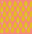 modern mustard leaves on coral background seamless vector image
