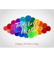 Mothers Day background with paper flowers Mothers vector image vector image