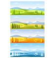 mountain nature landscape in four seasons set vector image vector image