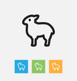 of zoo symbol on sheep outline vector image vector image