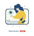 online school education children flat vector image vector image