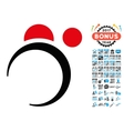 Planet System Icon with 2017 Year Bonus Symbols