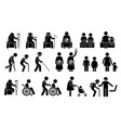 priority seats for old man senior citizen blind vector image