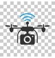 Radio Camera Drone Icon vector image vector image