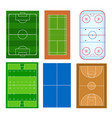 realistic badminton playground with net a vector image vector image