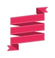 ribbon banner pink design icon vector image