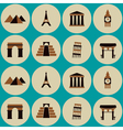 seamless background with architectural monuments vector image