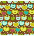 Seamless Pattern With Vintage Apples vector image vector image