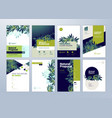 set of brochure and annual report design templates vector image vector image