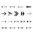 set of simple black arrows vector image vector image