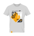 shabt-shirt us aircraft emblem vector image vector image