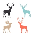 Silhouette deer with great antler animal vector image vector image