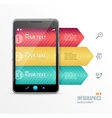 smartphone with infographic option banner vector image vector image