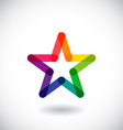 Star icon and logo vector image vector image