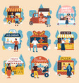 street sellers buyers set vector image vector image