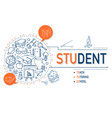student icons collection design vector image