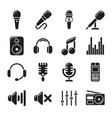 studio microphones music icons vector image vector image