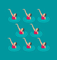 synchronized swimming performance vector image vector image