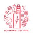 Taste of electronic cigarette vector image vector image