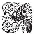 this doodad have bird vintage engraving vector image vector image