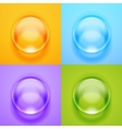 transparent glass sphere with glares and vector image