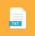 txt format file icon symbol vector image
