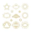 Vintage circle sunburst line emblems badges vector image