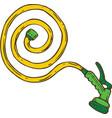 watering garden hose vector image vector image