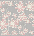 wildflowers hand drawn seamless pattern vector image vector image