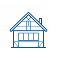 Winter Chalet Thin Line Icon vector image vector image