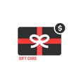 red and black gift card vector image