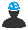 Soldier Under Spotted Helmet Icon vector image