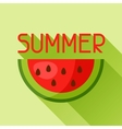 Watermelon slice cut in flat style Image for vector image