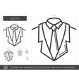 suit line icon vector image