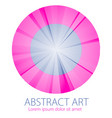 abstraction art linear textured element in round vector image