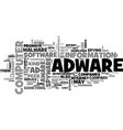 Adware and ad aware text word cloud concept vector image