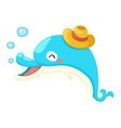 an isolated dolphin vector image vector image