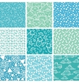 baby boy blue seamless patterns vector image vector image