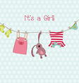 baby shower or arrival card with place for your te vector image vector image
