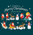 bain hands santa claus makes wish man in vector image vector image